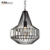 RM5129 Iron pendant light interior decorative cage industrial vintage pendant lamps