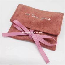 Small Elegant Both Velvet Face Jewelry Pouch Bag with Custom Logo