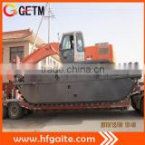 dredging machinery amphibious excavator with 3 rows of Chain