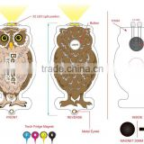 2016 OEM factory promotional torch keychain ,led flashlight torch lkeychain ,owl torch fridge magnet keychain