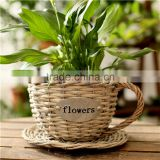 decorative garden handmade wicker basket flower pot saped cup                                                                         Quality Choice