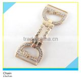 Strass Rhinestone Waist Chain Belt Buckle Design Crystal Gold Metal Chain 2.5x7cm