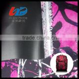 Water Proof 600D PVC Coated Polyester Oxoford Fabric In Red Camouflage Print For Bags/Luggages/Shoes/Tent Using