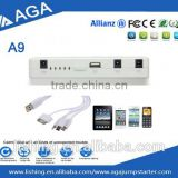 AGA wholesale Fast Charging Mobile Phone Power Bank Auto Battery Charger 12000 mAh