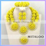 Mitaloo MT0003 Wholesale Jewelry Wedding Crystal Jewelry Set Africa Beads Bridal Jewelry Sets