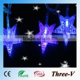 10m 100leds star shaped string lights