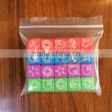14MM four color engraving LOGO dice 20 sets / sets The six sides are all carved pattern marks Collection of goods