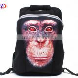 Animal printing funny design lager roomy neoprene backpack laptop bag messager bag