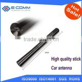 High Quality 4.72inch Universal Short Aluminum Auto Car Radio AM FM Carbon Fiber Antenna Replacement Screw Color Black