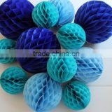 Paper honeycomb balls blue royal tiffany mint for Wedding Decorations baby shower decor frozen party decor