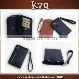 Universal Leather Wallet Purse pouch Case Cover for HTC one x with Zipper and Strap