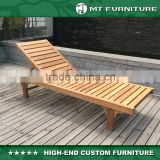 China Factory Price Wooden Outdoor Patio Furniture Sun Lounger