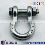 High strength forged galvanized Alloy steel Bolt safety Marine hardware screw pin bow shackle