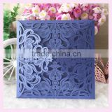 Free Shipping White damask Flower party invitation cards Laser Wedding invitation card with low price