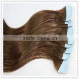 New coming top selling european human remy tape hair extensions/ pre-taped hair extension