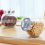 Cheap price sauce seasoning bottle of storage tank bottle glass jar and joyful small jam jar sugar pot