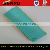 Gold Foil Stamping Custom Printed Blue Paper Sleeve for Packaing Boxes