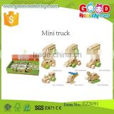 promotional discounts wooden toys vehicle truck toys OEM mini wooden truck in high quality EZ5091