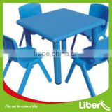Best Sale Cheap School Furniture Plastic Dining Table and Chair set for Primary School LE.ZY.004                                                                         Quality Choice