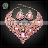 2016 New Arrival African Gold Plated Jewelry set which for Wedding jewelry set Match Clothes KHK871