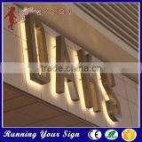 Outdoor metal back light sign board waterproof 3d wall letters