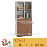 modern fashion 2 shelf glass door reading room furniture office bookcase file cabinet storage office furniture