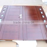 Entry door type african mahogany solid wood double door