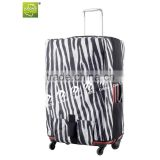 Luggage cover protecting luggage canvas fabric luaage cover with zebra-stripe printing so hot