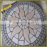 Pink and White Granite Paving Stone , Fanshaped Granite Pavers, Outdoor granite medallions