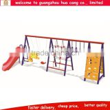 Indoor &outdoor kids swing with slide and climbing rope
