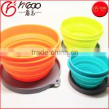 1L 500ML 230ML 3 Pack Lightweight Food grade BPA free silicone collapsible bowl with lid for Camping, Hiking, Travel, Pets
