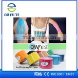 Aofeite High Quality Sports Cotton Elastic Bandage Medical Device Kinesiology Therapeutic Tape