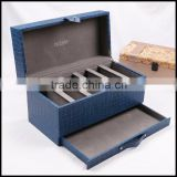 Flip PU leather accessories manufacturers selling belt storage display special sales packaging bo custom