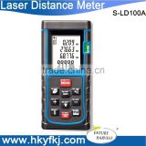 100m Laser distance meter m/in/ft bubble level tool Rangefinder Range finder Tape measure Area/Volume Better