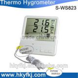 Factory promotion digital indoor outdoor thermometer hygrometer for cold room (S-WS823)