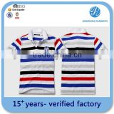 stripe work uniform breathable polo shirts
