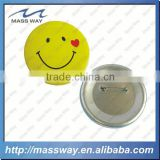 printing promotional smiley face custom tin button badge