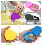 Women Girl Candy Color Silicone Wallet Key Coin Purse Rubber Pouch Case