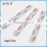 Nail Manicure Using Flower Printing Paper File Nail Shinning and Polishing