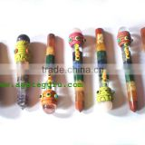 Mix Chakra Tibetan Healing Stick With Ball : Tibetan Healing wands from Agate Guru Exports