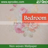 Decorative Plastic non-woven material commercial wall fashion wallpaper for shop decoration