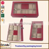pu jewelry box/faux leather storage boxes/faux leather custom packaging suitcase
