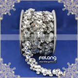 Feilang crystal glass stone cup chain for party decoration