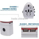 New design Universal Travel Adapter 2 USB Conversion Socket/Multifunctional Power Plug/Global Universal Plug Converter USB
