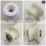 plastic roller 11X40X22MM customized plastic parts Ertaly PET-P/nylon/PE material white plastic roller for bearing 625zz