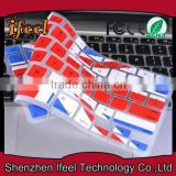 High Quality Colorful Thai/Arabic/EU Version Keyboard Cover For Macbook Pro,Keyboard Cover For Macbook Pro