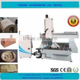 4 axis HSD spindle 90 degree rotary 3d engraving cnc router