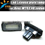Led License Plate Lamp For Benz W203 4D Sedan Auto Accessory License Plate Lamp For Benz W203 4D Sedan