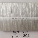 stylish Brushed Silver Aluminum composite panel decorative building materials best price list