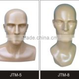 Fashion Fiberglass Realstic Hat Display Mannequin Heads